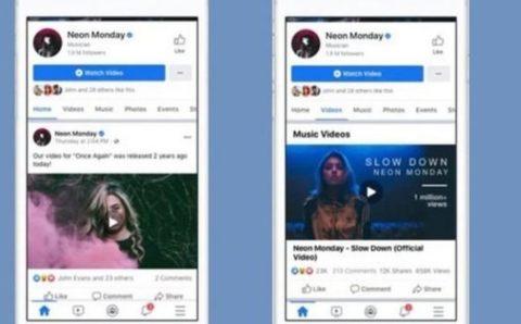 Facebook se prepara para el lanzamiento de su portal de videoclips