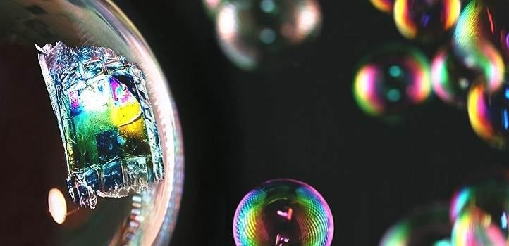 Células solares en pompas de jabón